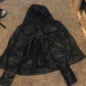 H&M leather jacket. Black.